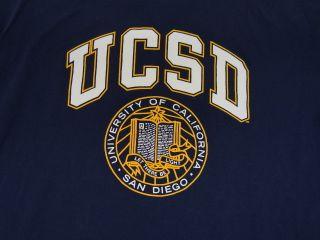 Vtg Ucsd Tritons T Shirt California San Diego XL