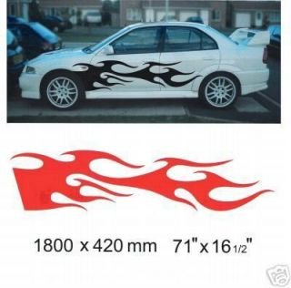 Car Side Flame Decal Graphic Sticker Kit 021