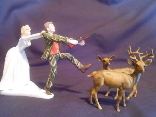 funny wedding cake topper real tree camo camoflauge hunting deer