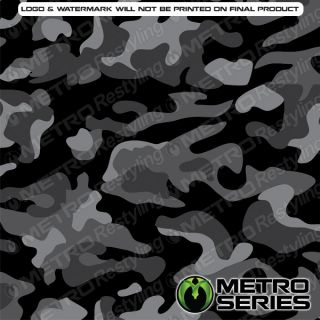 HD Large Mid Night Camouflage Vinyl Wrap 3M 1080 Controltac Adhesive