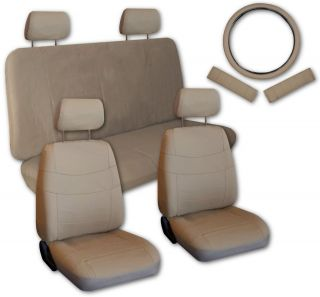 Tan Faux Leather Next Generation Car Seat Covers Free Accessories X