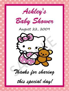 Shower Invitations Favor Tags Candy Water Wrapper Labels Advice