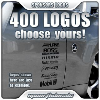 12 Sponsor Logo Decals Car Truck Vinyl Graphic Stickers