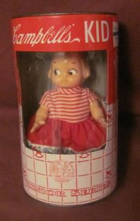 Campbells Soup Kid Doll and Piggy Coin Bank Junior Series Collectible