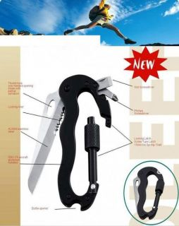 Multi Tool Carabiners with Knife Screwdriver Bottle Opener for