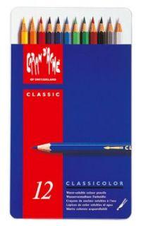 Tin 12 Caran DAche Classicolor Water Soluble Pencils