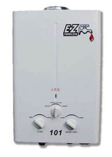EZ 101 Portable Tankless Water Heater LPG Propane RV Camp Site