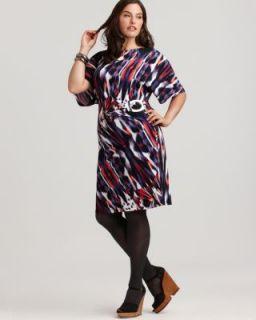 Calvin Klein New Multi Color Scooped Neck Casual Dress Plus 1x BHFO