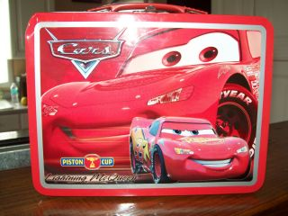 Disney Pixar Cars Lightning McQueen Metal Lunchbox
