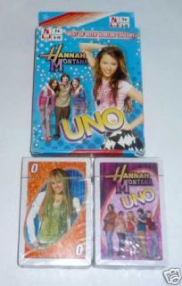 Uno Playing Cards Game Hannah Montana World SEALED New