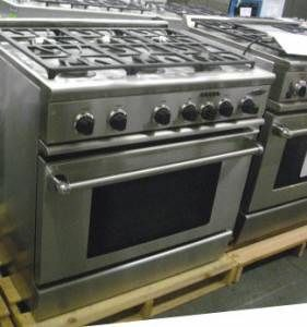 DCS Stainless 36 inch Dual Fuel Range 6 Burners RDS366