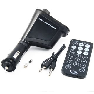 USB Car  SD Card Player with Audio FM Transmitter Remote Control