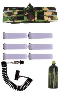 3SKULL Paintball Pack 6 1 Harness Camo Pods Coiled Remote 20oz Tank