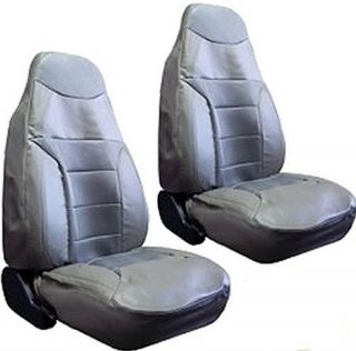 Cushioned Synthetic Leather High Back Car Truck SUV Seat Covers