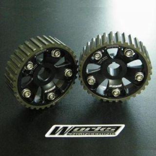 New Works Engineering Adjustable Cam Gear Pulley 2pc EVO 1 8 4g63