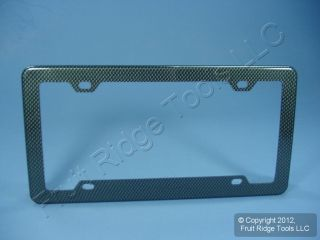 Pilot Automotive WL714 CF Carbon Fiber Look Car License Plate Frame