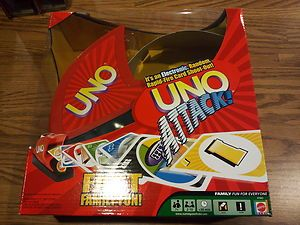 New Electronic Uno Attack Card Game Fast Family Fun w Card Launcher