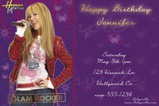 Custom Birthday Invitations Card Ticket Hannah Montana