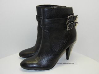 Womens 8 5 M Black Leather Cambria Ankle Boots Heels Shoes New