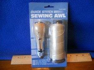 Sewing Awl Kit New Leather Canvas Sails Repair Quick Stich