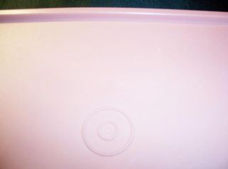 Tupperware Servalier Rose Pink Canister & White Lids/3 Bowl