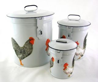 French Country Canister Set ~ Kitchen Storage Canisters ~ Decorative
