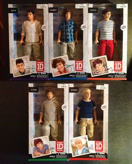 One Direction 5 Doll 1D Video Collection Action Figure Set MIB