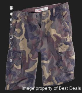 AE Mens Ripstop Cargo Long Shorts Camo New Free Fast Shipping