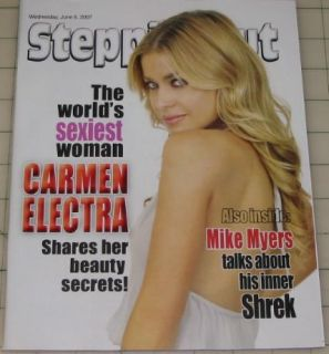 Carmen Electra RARE Cover Edition on NJ Zine Mike Myers