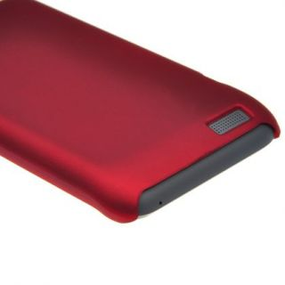 Carmine Hard Shell Cover Protector Case for HTC One V T320e