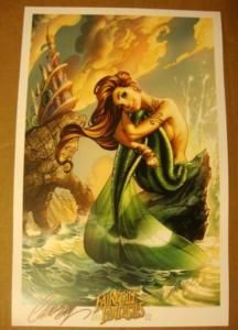Scott Campbell Fairy Tales Mermaid 2011 SDCC Print