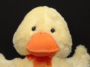 Big Jumbo Russ Yellow Duckling Duck Toy Plush Stuffed Animal Wade