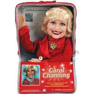 Carol Channing Ventriloquist Dummy Doll New in Case