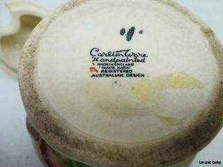 Antique Carlton Ware Australian Design Foxglove Jam Mustard Relish Jar