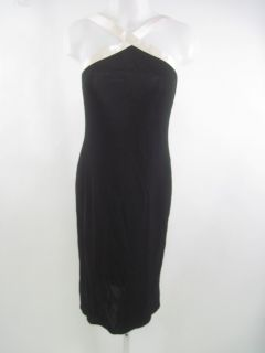 you are bidding on a carla westcott black white knee length dress this