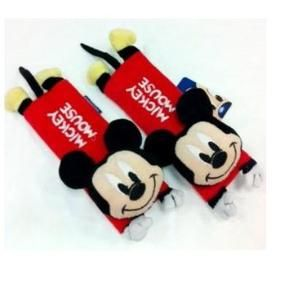 Mickey Mouse Black Red Car Safety Seat Belt Pad Cover x 1 Pair