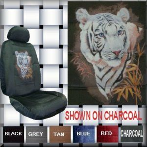 Beautiful New White Tiger Car Truck SUV Seat Covers PP