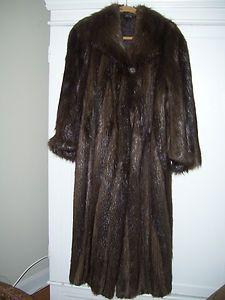 Natural Canadian Beaver Fur Coat Wolfie Long Hair 63 Sweep Mint Mens