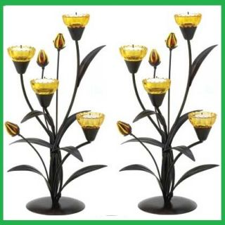 15 Tall Candelabra Golden Yellow Tree Candle Holder Table Decor