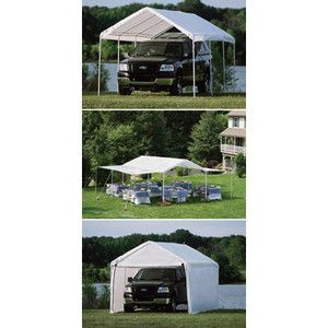 100 ShelterLogic 10x20 House Garage Shed Canopy 3 N 1