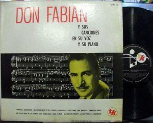 Don Fabian Y Sus Canciones Piano Jamaica Calypso ARG LP