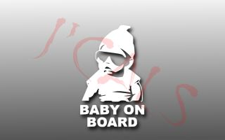 BABY CARLOS BABY ON BOARD HANGOVER 5x 8   PICK COLOR  VINYL CAR