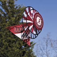 University of Alabama Crimson Tide Lawn Garden Wind Spinner 85002