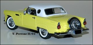Mint (2) 1956 Ford Yellow Thunderbird (Preferred Partner) Ltd Ed 1000