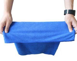 Blue Car Wipe Cloth Wash Cleaning Towel Micro Fibre 30 x 70CM bog