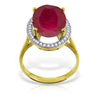 3438 MSRP 7.93 Carat RING NATURAL Diamond RUBY 14K Solid Yellow Gold