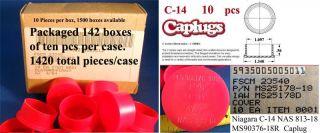 Caplug Niagara C 14 MS90376 18 Red Plastic New 10 Caps