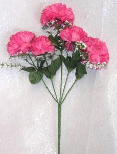 60 Carnations Hot Pink Fuchsia Silk Flowers Wedding