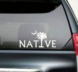 Native Palmetto Tree South Carolina Window Decal Sticker