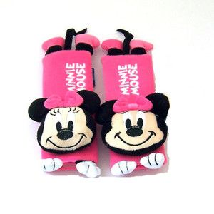 Disney Minnie Mouse Car Seat Belt Cover Shoulder Cushion Pads